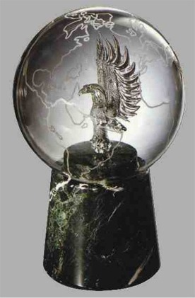 Glass Eagle and Globe Award - Recognition Award