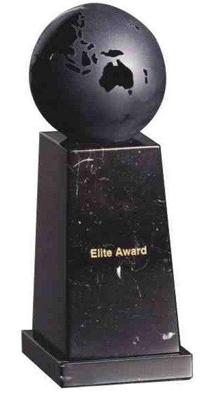 Onyx Glass Globe Award - Recognition Award