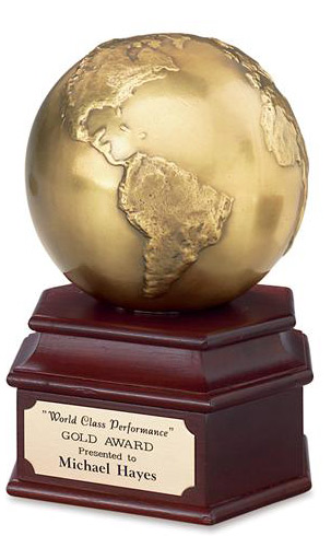 Antique Gold Globe Award - Corporate Award