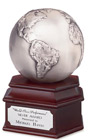 Antique Silver Globe Award