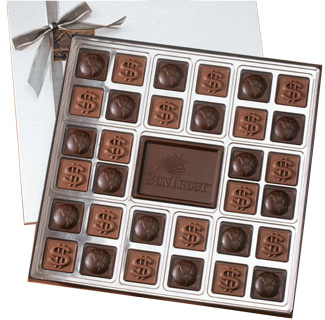 32-Piece Custom Boxed Chocolates - 13.5oz