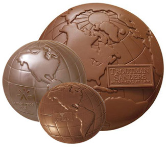 Molded Chocolate Globes