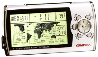 Global Radio Controlled Travel Alarm Clock - Business Gift