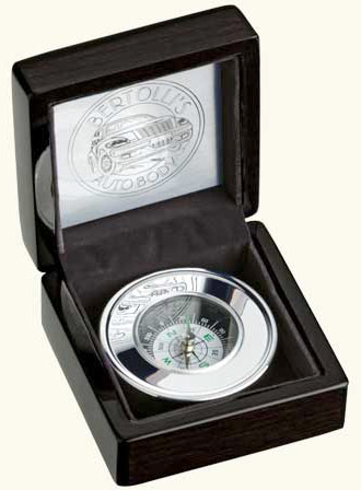 the World Explorer Compass in Black - Business Gift