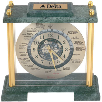 Aristocratic World Time Clock - Promotional Clock