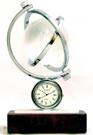 Crystal Gyro Globe Clock