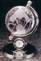 The Dallas Desk Globe Clock
