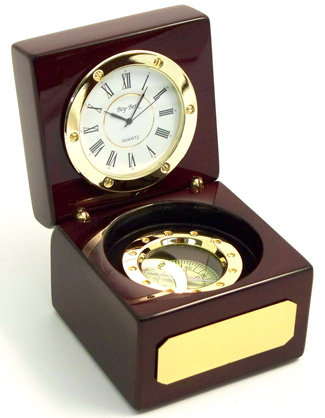 Navigator Gift Clock and Compass