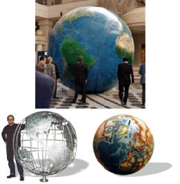 Globe Sculptures & Display Globes