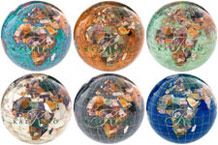 Gemstone Globe Paperweights