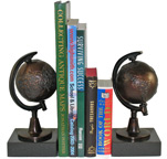 Bronze Semi-Meridian Globe Bookends