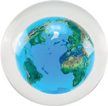 Crystal Ball with Floating Earth Paperweight